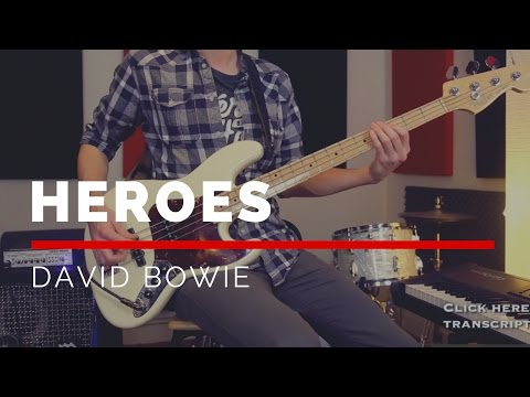 Heroes - David Bowie (Bass Cover with Sheet Music) | BASSTRANSCRIPTIONS #16