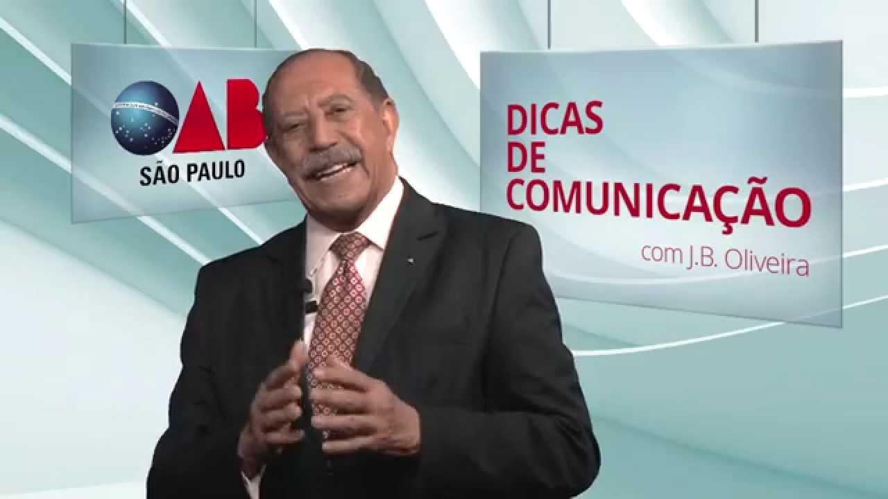 """Dicas de Comunicação com J.B. Oliveira - """"Oratória com ênfase em enloquência"""""""