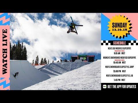 Day 4: 2018 Dew Tour Breckenridge - Men's Ski/Women's SNB Modified Superpipe + SNB Slopestyle thumbnail