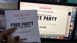 GET UNLIMITED COUPONS AT VS PINK FOR JOINING PINK NATION