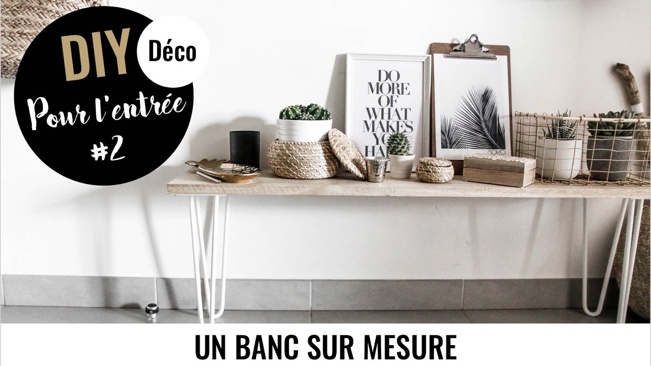 diy deco 2 un banc sur mesure pour l 39 entr e avec. Black Bedroom Furniture Sets. Home Design Ideas