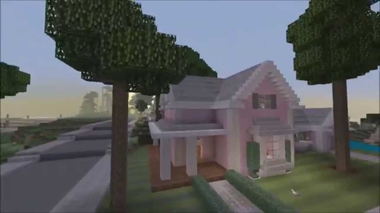 minecraft xbox 360 edition; pink traditional house showcase - youtube