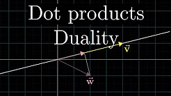 Mix – Dot products and duality | Essence of linear algebra, chapter 9