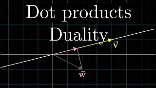 Dot products and duality   Essence of linear algebra, chapter 9
