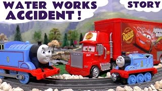 Thomas and Friends Accident Rescue with Cars McQueen | Water Works Rescue Toy Train Set Unboxing