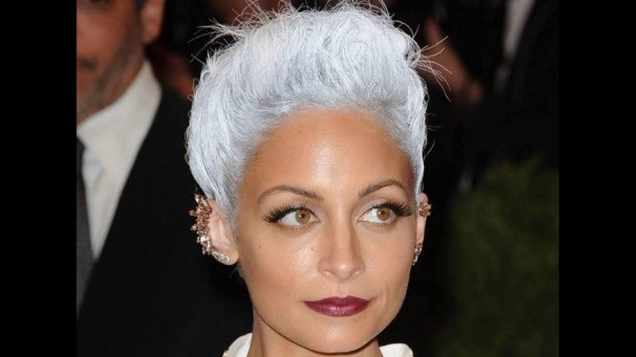 Les 30 coiffures tendances cheveux blancs youtube for Coupe avec cheveux blancs