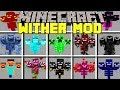 Minecraft WITHER MOBS MOD / OP WITHERS, TNT, GOLD, EMERALD, DIAMOND WITHERS! / Modded Mini-Game