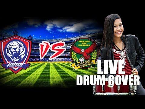 🔴  JOHOR VS KEDAH LIVE - Drum Cover by Nur Amira Syahira