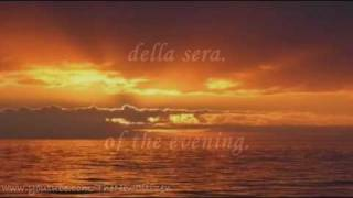 Andrea Bocelli - Il Mare Calmo Della Sera (English lyrics translation)
