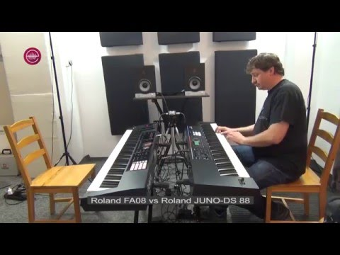 Roland JUNO DS88 vs Roland FA08 - Grand Piano sounds demo