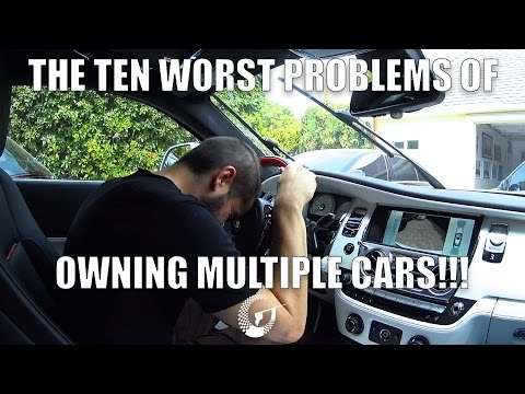 THE TEN WORST PROBLEMS OF OWNING MULTIPLE CARS - LTACY Episode 27