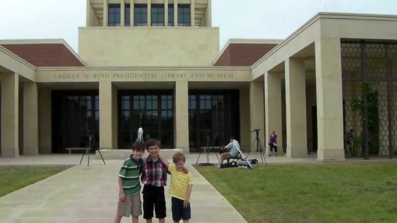 George W Bush Presidential Library At Smu Tour Youtube