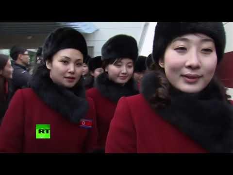 RAW: 280 N. Koreans, incl. 229 cheerleaders, arrive in South ahead of Olympics