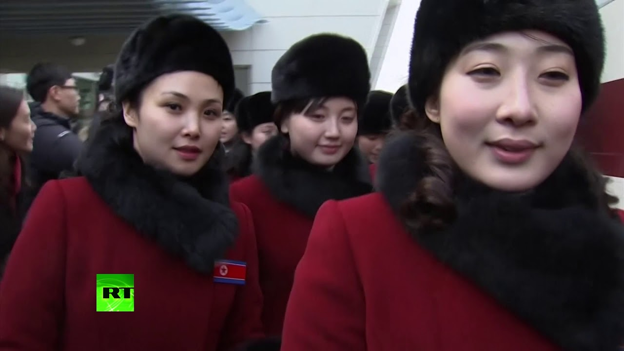 RAW: 280 N. Koreans, incl. 229 cheerleaders, arrive in South ahead of Olympics