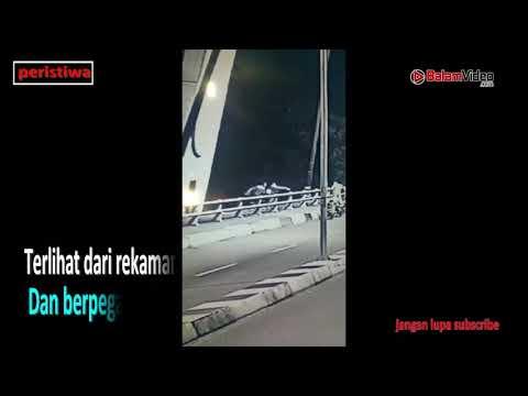 Rekaman CCTV Detik Detik Korban Jatuh Dari Jembatan 1 Barelang