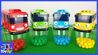 Little Bus Tayo And Color Mable Car Toy Play.[Jjtoytv]