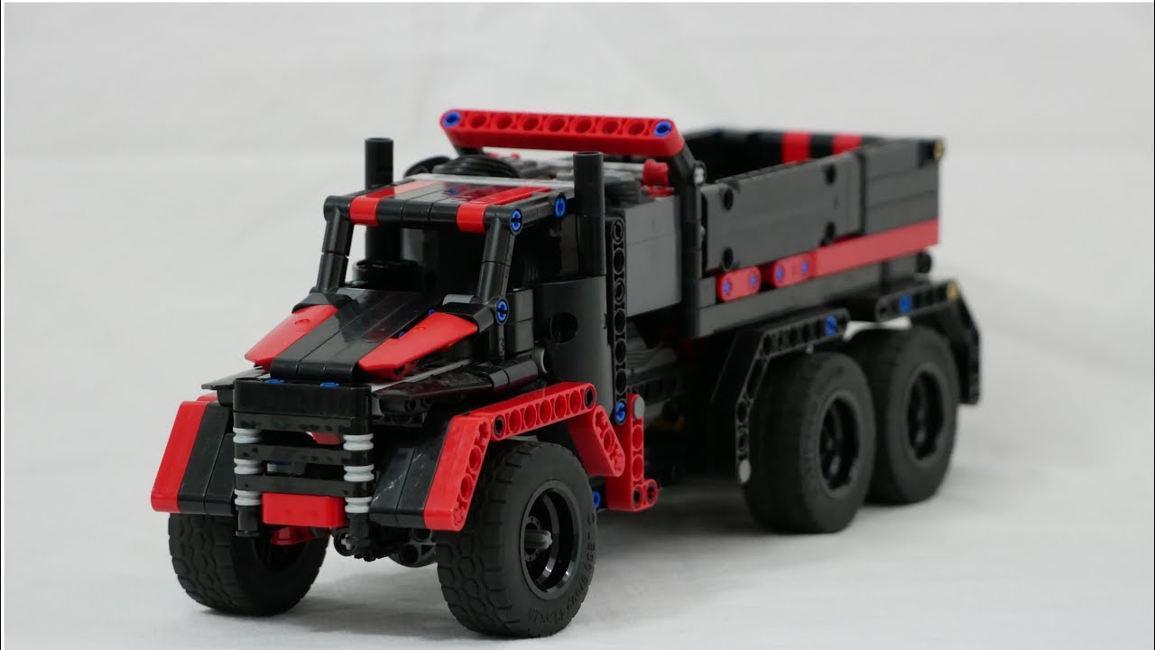 Lego Technic Rc Dump Truck With Buwizz 20 Moc Youtube