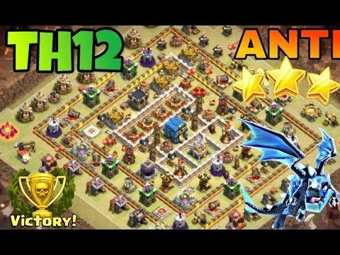 Best Th12 War Base Anti Electro Dragon 4
