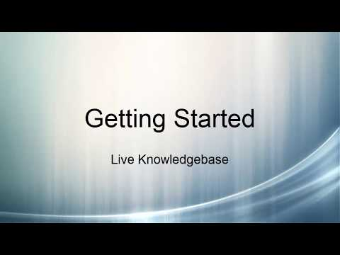 Live Knowledgebase: Getting Started
