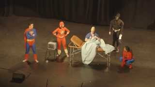uq med revue 2015 planet of the aches superheroes