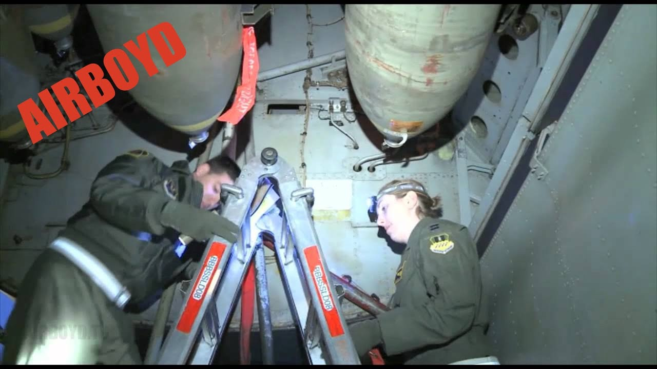 B 52 bomb bay inspection 2012 youtube for Www b b it