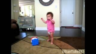 BABY ON THE MOVE! Jillian Learns to Walk!  JillianTubeHD Flashback