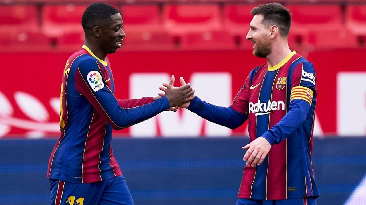 Messi, Dembele 8 of 10 as Barcelona stay alive in La Liga race