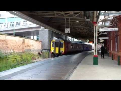 Nottingham Midland Station in 1966 and 2014
