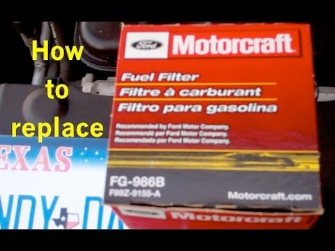 Ford Crown Victoria fuel filter replacement - YouTubeYouTube