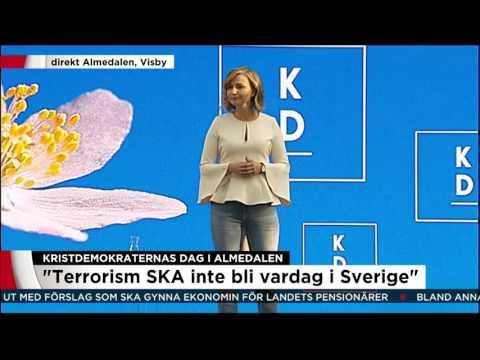 """""""Terrorism ska aldrig bli vardag i Sverige"""" - Nyheterna (TV4)"""