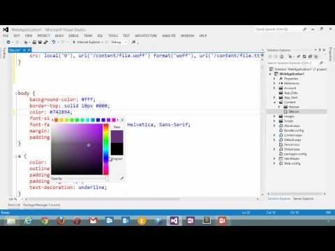 Visual Studio 2012 CSS Editor   Official Microsoft Site