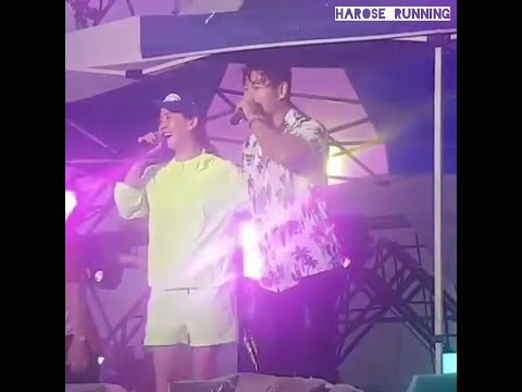 [29.06.2019] Kim Jong Kook, Song Ji Hyo, HaHa At Pohang Music Festival (Raining Stage)