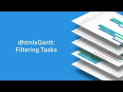 How To Filter Tasks In The Grid Of A JavaScript Gantt Chart - DHTMLX Tutorial