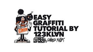 HOW TO DO GRAFFITI: EASY TUTORIAL BY 123KLAN
