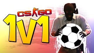 CS:GO SOCCER/FOOTBALL 1v1! (CS:GO 1v1 Challenge)