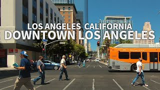 LOS ANGELES - Driving Downtown Los Angeles (Hill Street, Olive Street), California, USA -2.7K QHD