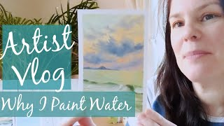 ARTIST VLOG - Why I paint the sea - TIMELAPSE PAINTING