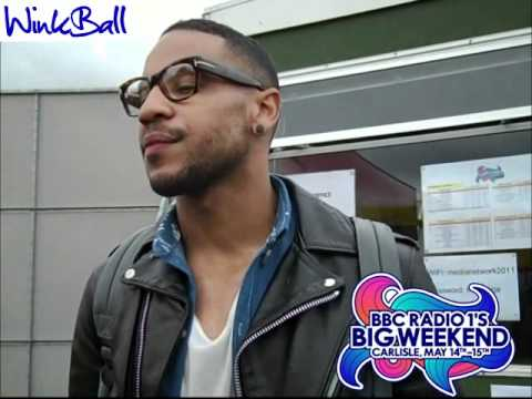 Reggie Yates gives Winkball a quick interview at Radio 1's B