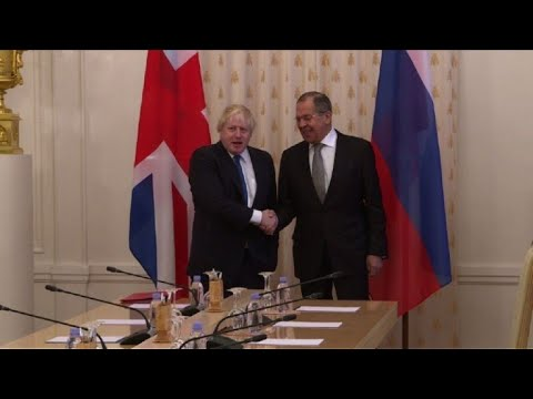 Boris Johnson meets with Russian counterpart in Moscow