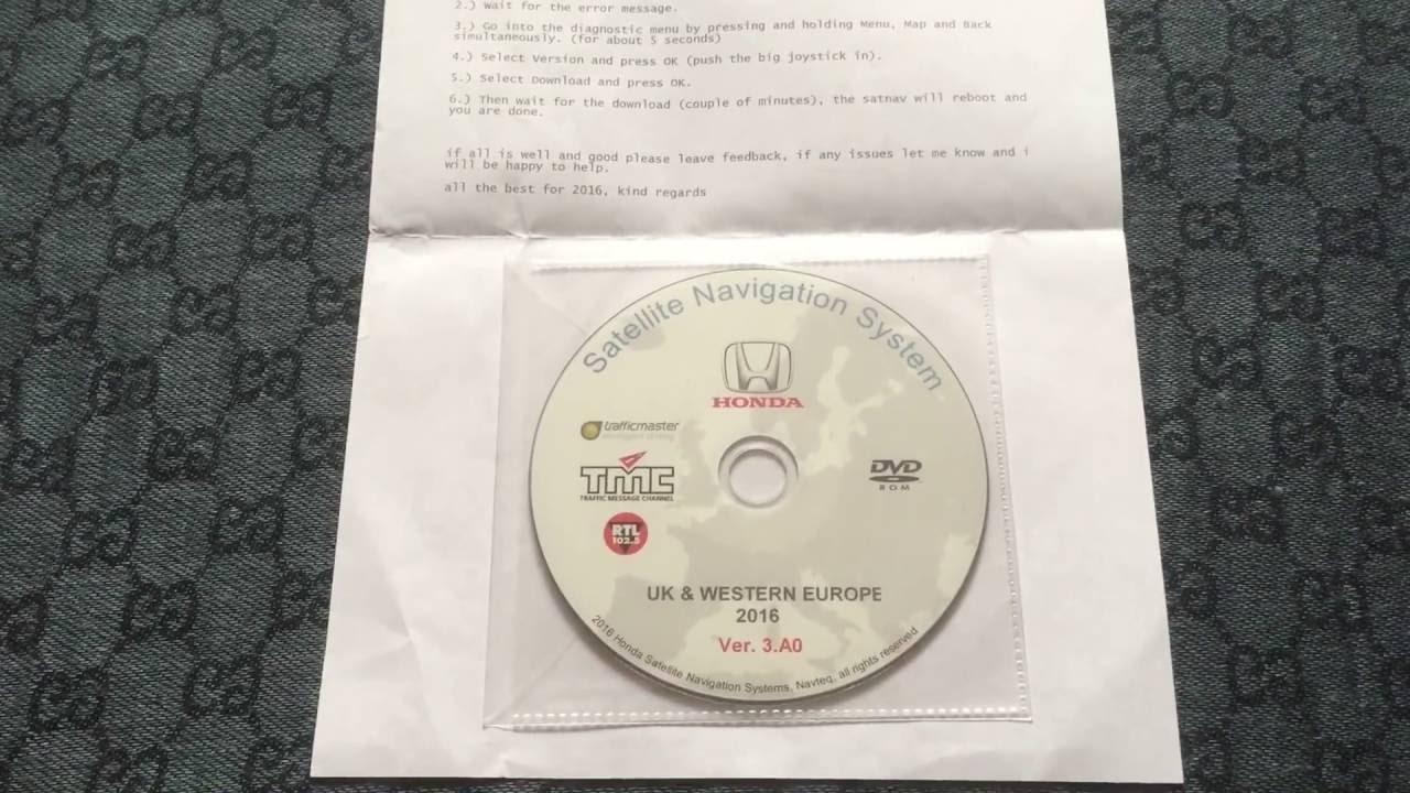 Good A0 Satellite Navigation System 2016 DVD Update Honda  CR V/Civic/Accord/Legend UK WESTERN EUROPE