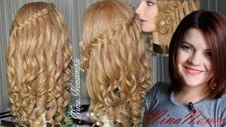 ПРИЧЕСКА на ВЫПУСКНОЙ/ ЛОКОНЫ/ ЦВЕТОК/ ВОДОПАД/ Сurly hairdo with hairflower/ Nina Nonsimple(В этом видео я показываю, как сделать красивую летнюю прическу на основе модного водопадного плетения,..., 2013-06-09T15:11:44.000Z)