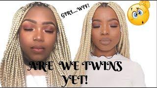 I Tried Following A Toni Olaoye Hair & Makeup Tutorial!!!