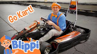 Blippi Explores A Go Kart | Fun and Educational Videos For Kids