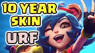 10 YEAR ANNIE-VERSARY IN URF!!! FREE SKIN FOR EVERYONE FROM RIOT!! ANNIE IS ACTUALLY BROKEN IN URF?