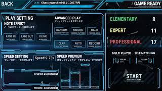 【下手くそプレイ】OverRapidの最高難易度が17に更新されたのでプレイしたら発狂BMSレベルだった【Broken Stars/PRO】
