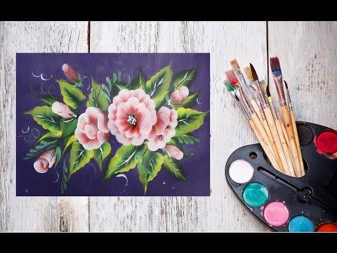 Как нарисовать цветы одним мазком! #Dari_Art #oneStroke