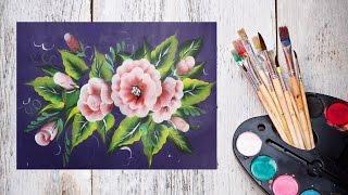Как нарисовать цветы одним мазком! #Dari_Art #oneStroke(давайте познакомимся и интересной техникой живописи one stroke! Или по другому ОДИН МАЗОК! Свои идеи к видео..., 2015-11-21T12:04:31.000Z)