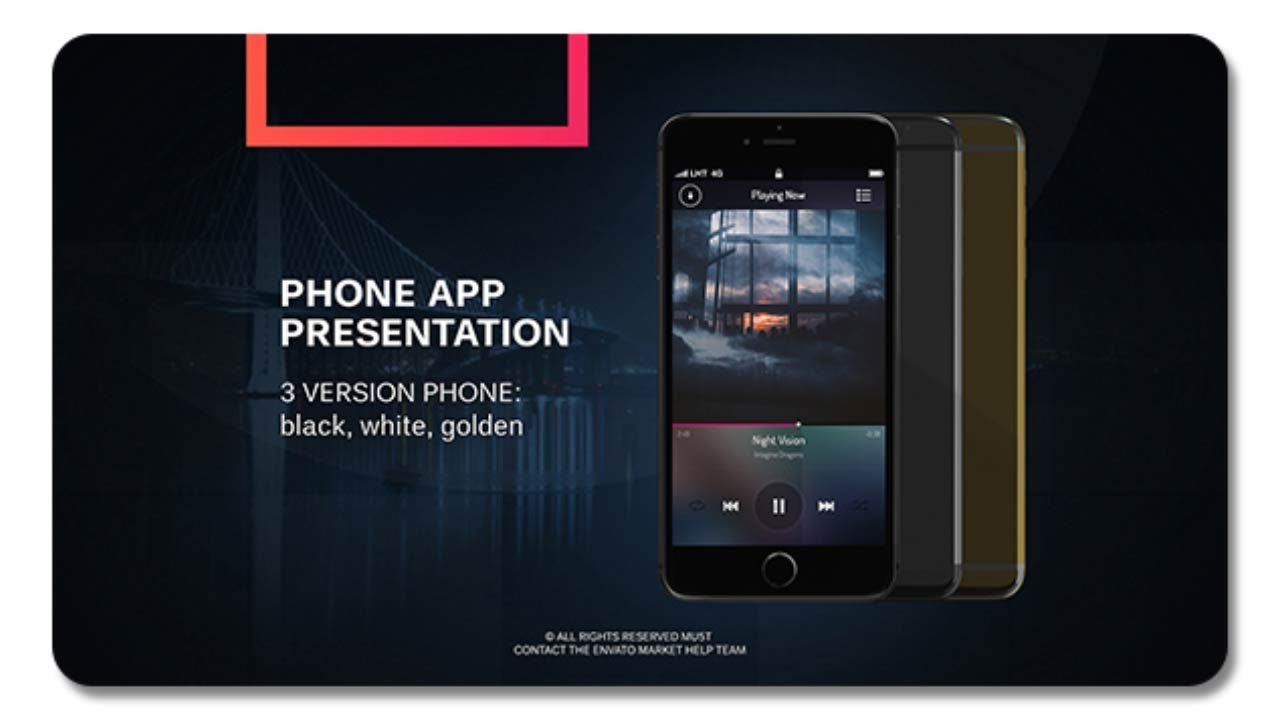 phone app presentation 20695774 | after effects template - youtube, Presentation templates