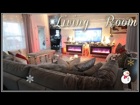 Cozy Christmas Living Room Tour || Aesthectic