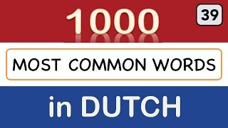 Dutch Vocabulary Course - Lesson 39 (most common words 951-975)